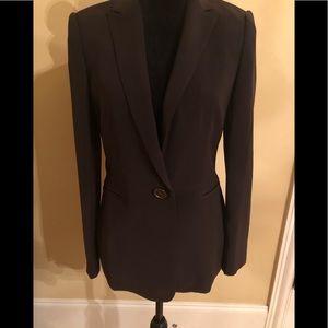Calvin Klein brown one button blazer size 4